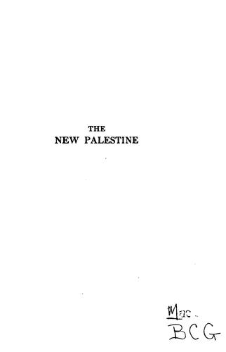 Download The new Palestine