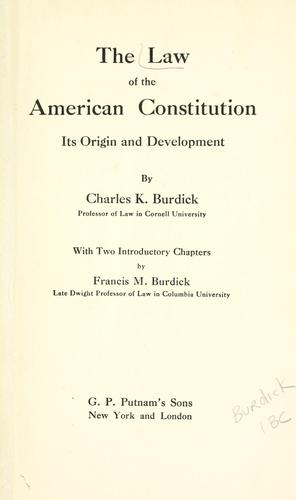 Download The law of the American Constitution