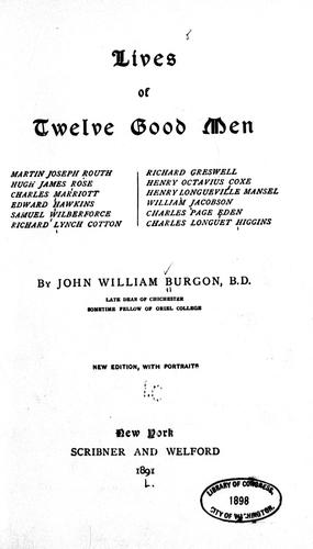 Download Lives of twelve good men …