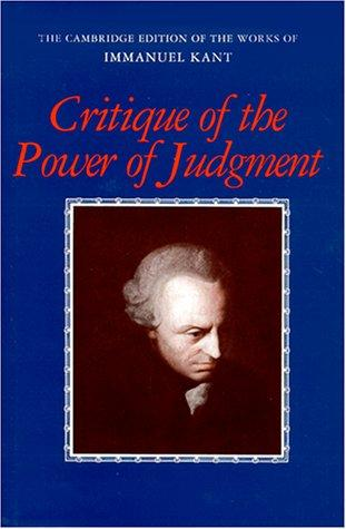 Critique of the Power of Judgement