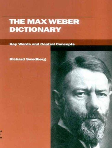 Download The Max Weber Dictionary