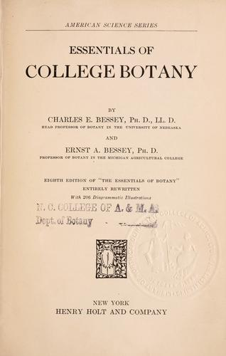 Download Essentials of college botany