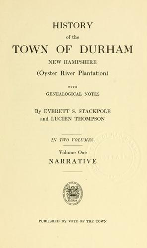 History of the town of Durham, New Hampshire