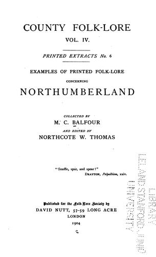 Download Examples of printed folk-lore concerning Northumberland