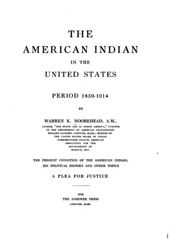 Download The American Indian in the United States, period 1850-1914