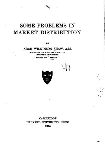 Download Some problems in market distribution