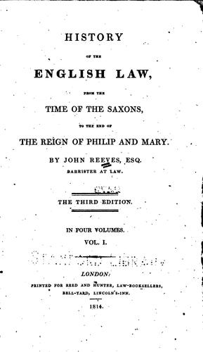 Download History of the English law
