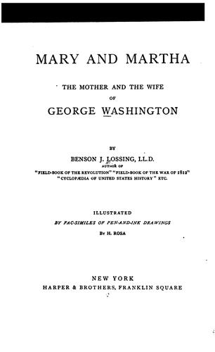 Download Mary and Martha, the mother and the wife of George Washington