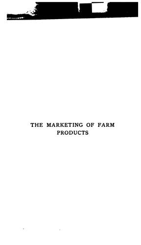 Download The marketing of farm products