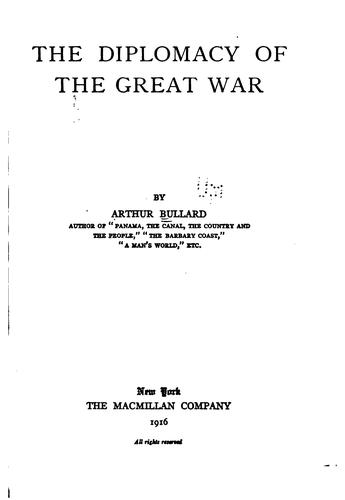 Download The diplomacy of the Great War