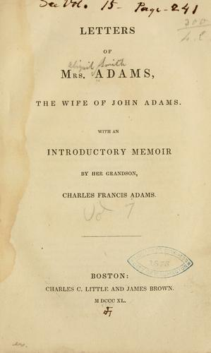 Download Letters of Mrs. Adams
