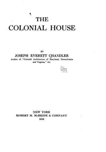 Download The colonial house
