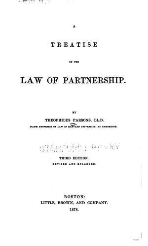 Download A treatise on the law of partnership