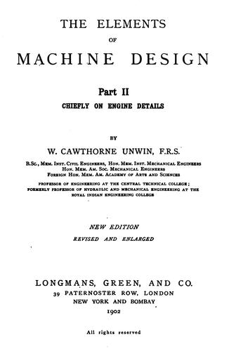 The elements of machine design.