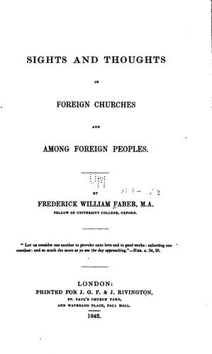 Download Sights and thoughts in foreign churches and among foreign peoples.