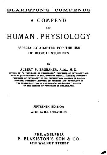 A compend of human physiology