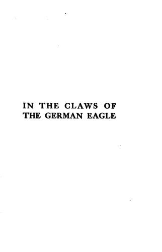 Download In the claws of the German eagle