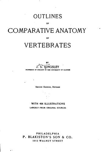 Outlines of comparative anatomy of vertebrates