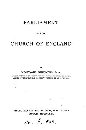 Download Parliament and the Church of England