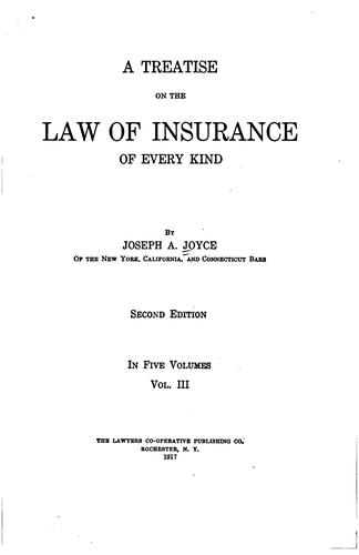 Download A treatise on the law of insurance of every kind