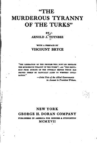 """The murderous tyranny of the Turks,"""