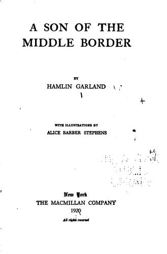Download A son of the middle border