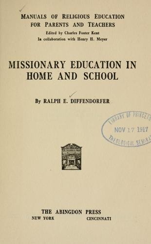 Download Missionary education in home and school