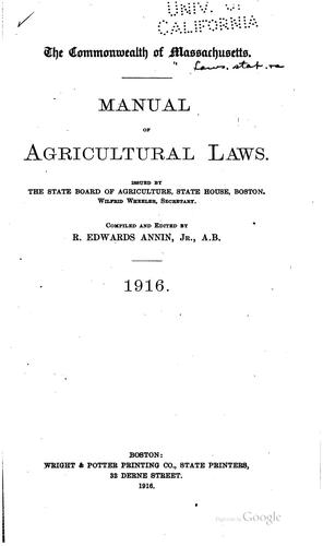 Download Manual of agricultural laws