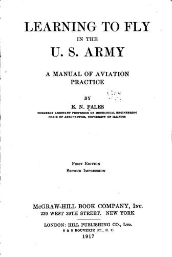 Learning to fly in the U. S. Army