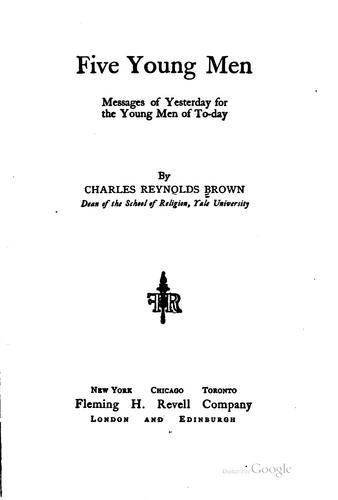 Five young men by Brown, Charles Reynolds
