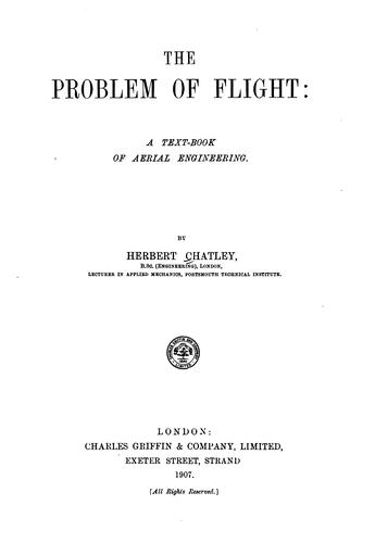 Download The problem of flight