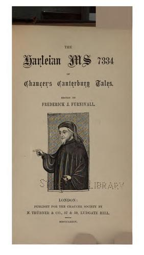 Download The Harleian ms. 7334 of Chaucer's Canterbury tales.