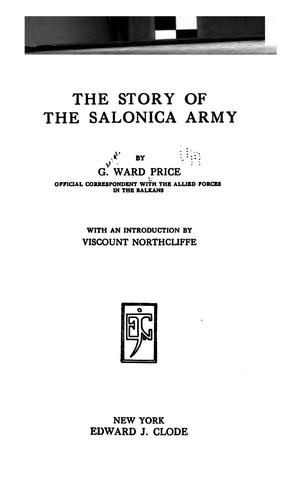 Download The story of the Salonica army