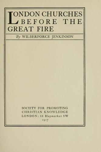 Download London churches before the great fire