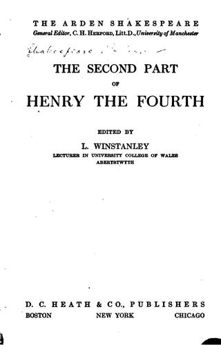 Download The second part of Henry the Fourth