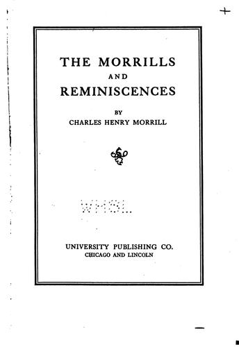 The Morrills and reminiscences