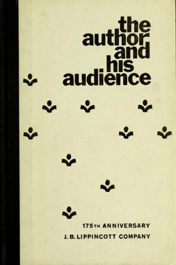 Cover of: The author and his audience   J.B. Lippincott Company.