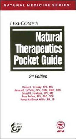 Natural therapeutics pocket guide by Daniel L. Krinsky