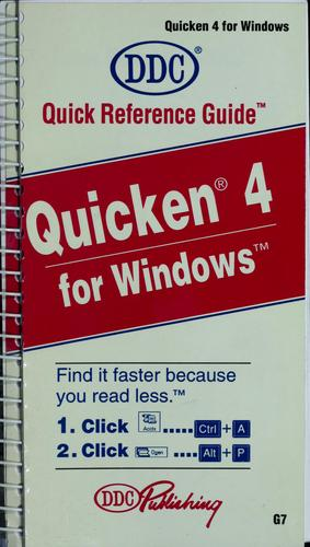 Quicken 4 for Windows by Kathy Berkemeyer