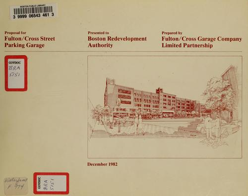 Proposal for fulton/cross street parking garage by Boston Redevelopment Authority