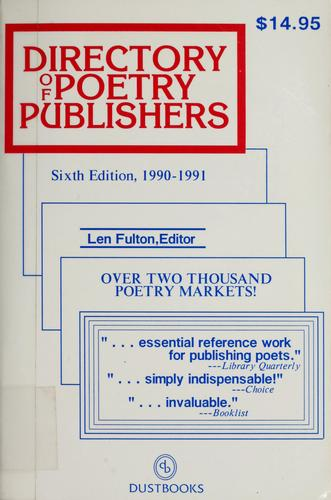 Directory of poetry publishers by Len Fulton
