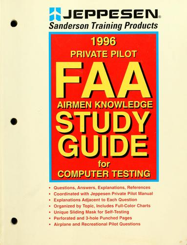 Instrument rating FAA airmen knowledge study guide for computer testing by inc Jeppesen Sanderson
