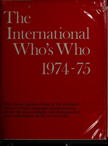 The International who's who, 1995-96 by