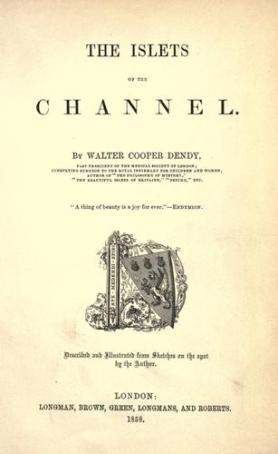 The islets of the channel by Walter Cooper Dendy
