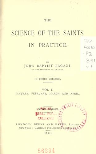 The science of the saints in practice by Giovanni Battista Pagani