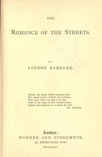 The romance of the streets by