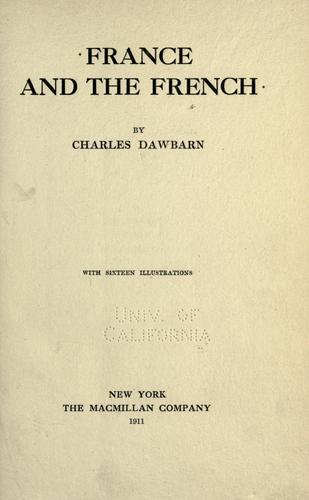 France and the French by Charles Dawbarn