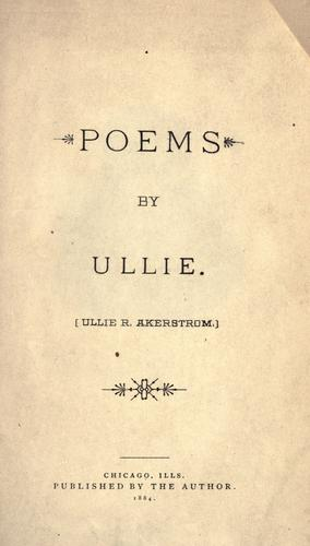Poems by Ullie by