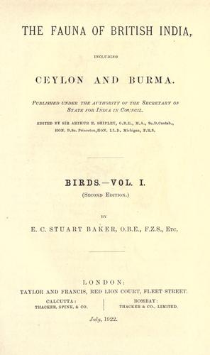 Birds by Edward Charles Stuart Baker