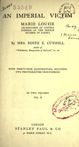 An imperial victim by Edith E. Cuthell